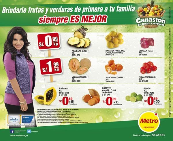 METRO: Llegó el Canastón de Frutas y Verduras de Septiembre