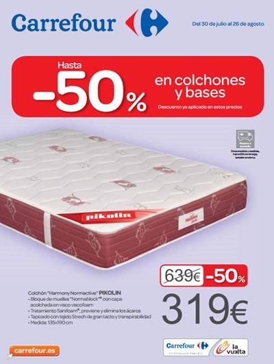 ofertas Carrefour Agosto 2013 en colchones