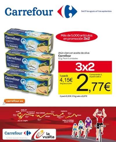 Catálogo Carrefour: Ofertas 3x2 en Comestibles - Septiembre 2013