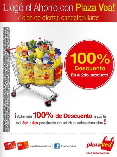 d984c7113fb25 Catálogo Plaza Vea Setiembre 2013  100% de Descuento en el 2do ...
