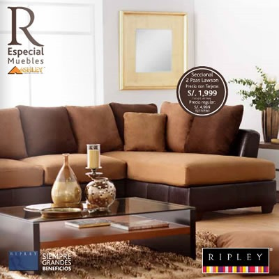 Cat logo ripley agosto 2013 especial de muebles ashley per for Muebles de sala ripley
