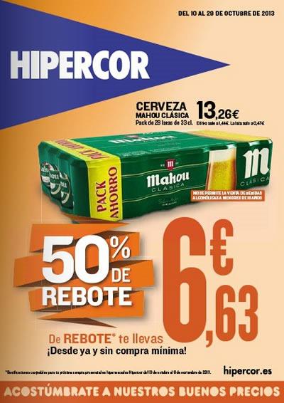 catalogo hipercor octubre 2013 50 por ciento de rebote espana