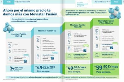 catalogo movistar octubre noviembre 2013 planes internet movistar fusion espana