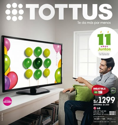 catalogo tottus octubre 2013 ofertas aniversario peru