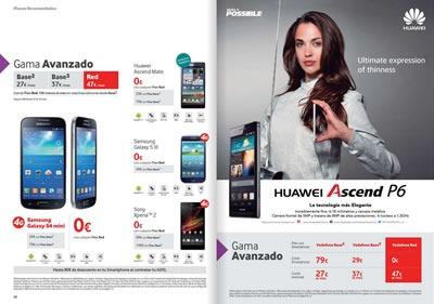 catalogo vodafone octubre 2013 ofertas smartphones moviles espana 2