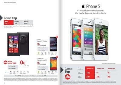 catalogo vodafone octubre 2013 ofertas smartphones moviles espana 4