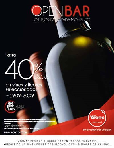 catalogo wong ofertas vinos licores septiembre 2013 peru