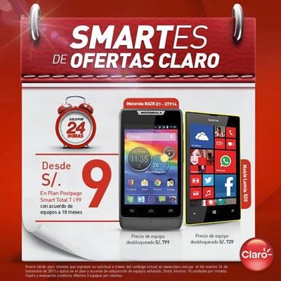 claro ofertas smartphones solo x 24 horas septiembre 2013 peru