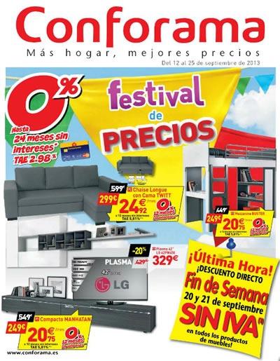 Cat logo conforama del festival de precios septiembre 2013 for Catalogos de sofas y precios