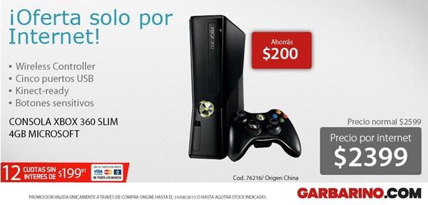 garbarino-oferta-solo-por-internet-xbox-360-slim-10-agosto-2013-argentina