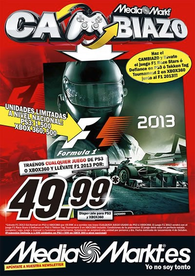 media markt cambiazo f1 2013 hasta agotar stock