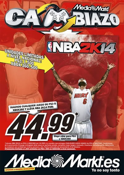 media markt cambiazo nba 2k14 hasta agotar stock