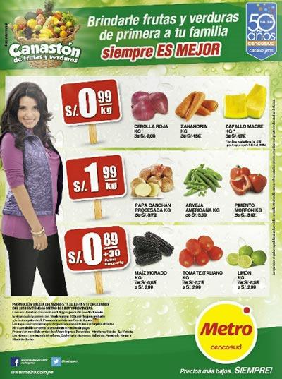 metro canaston de frutas y verduras 15 al 17 octubre 2013 peru