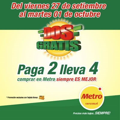 metro dos gratis 27 sept al 01 oct 2013 peru