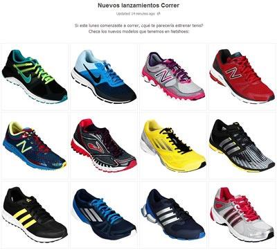netshoes nuevos lanzamientos zapatillas octubre 2013 mexico