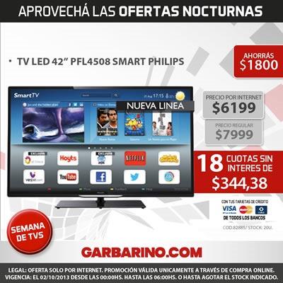 oferta nocturna garbarino 1 octubre  2013 argentina