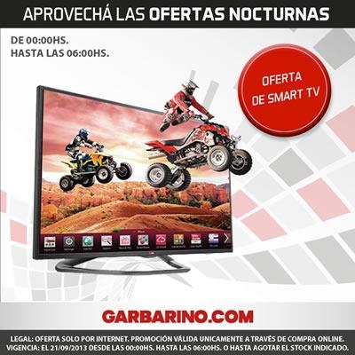 oferta nocturna garbarino 21 septiembre 2013 argentina smart tv