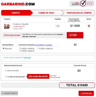 oferta nocturna garbarino 21 septiembre 2013 argentina smart tv 2