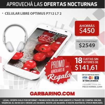 Oferta Nocturna Garbarino: Semana de Celulares